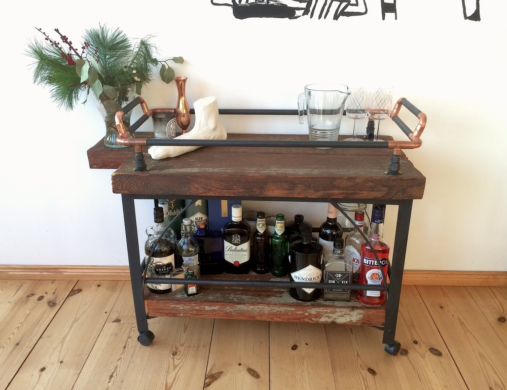 Sparren Bar Cart DANKOMADE Stunning Sewing Machine Bar Cart