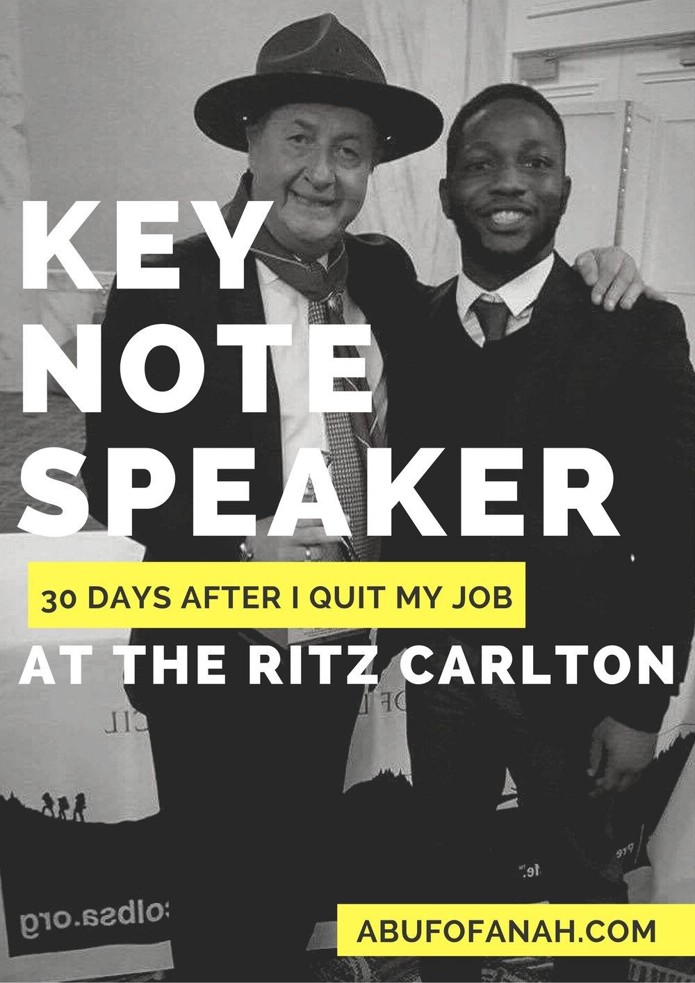 ritz, keynote speaker