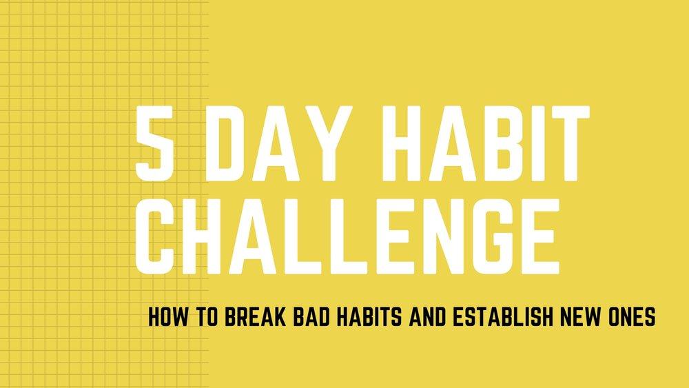 habits challenge