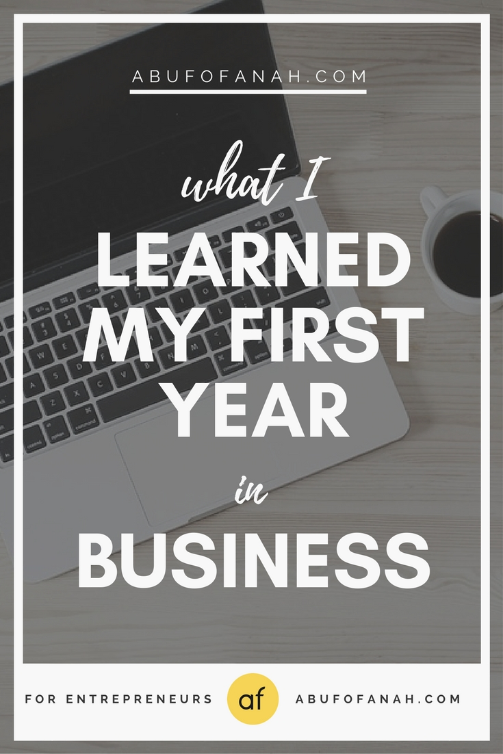 What I learned my first year in business