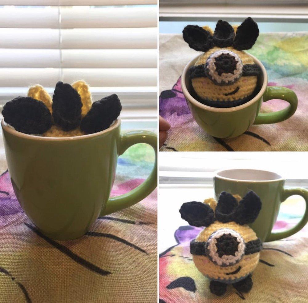 Minion Oddish made by @ambergurumi