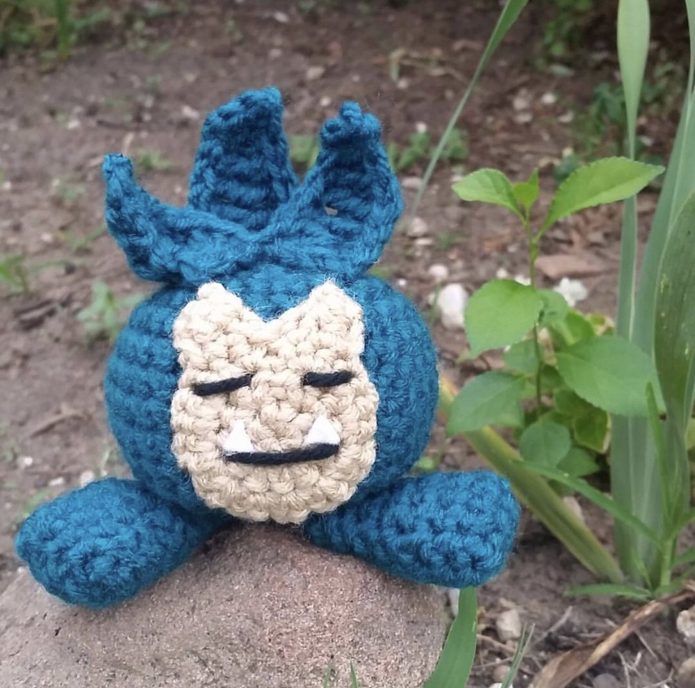 Snorlax Oddish made by @stefunnycrochets85