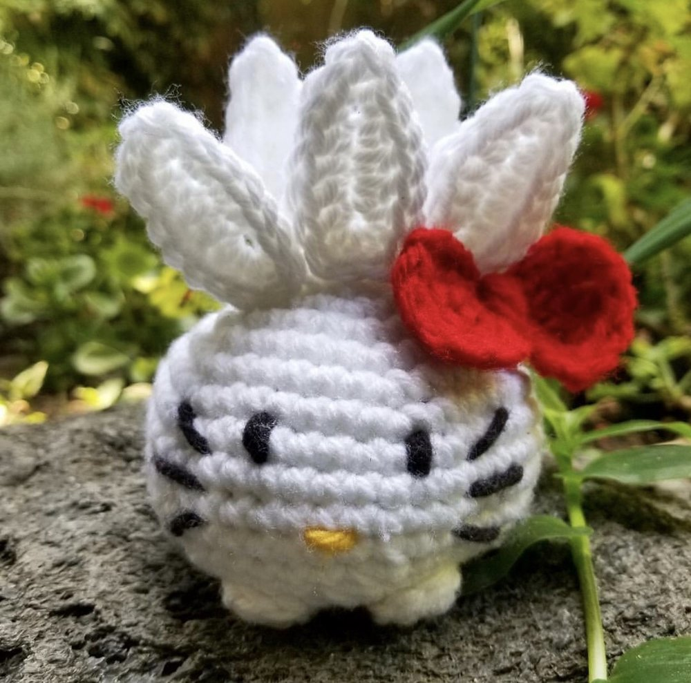 Hello Kitty Oddish made by @b.withatwist
