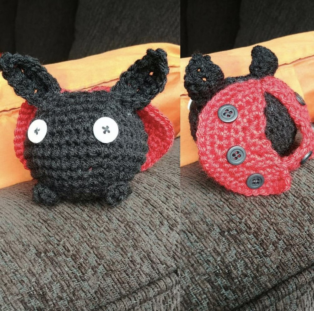 Lady Bug Oddish made from @wishuponaladybugcrochet