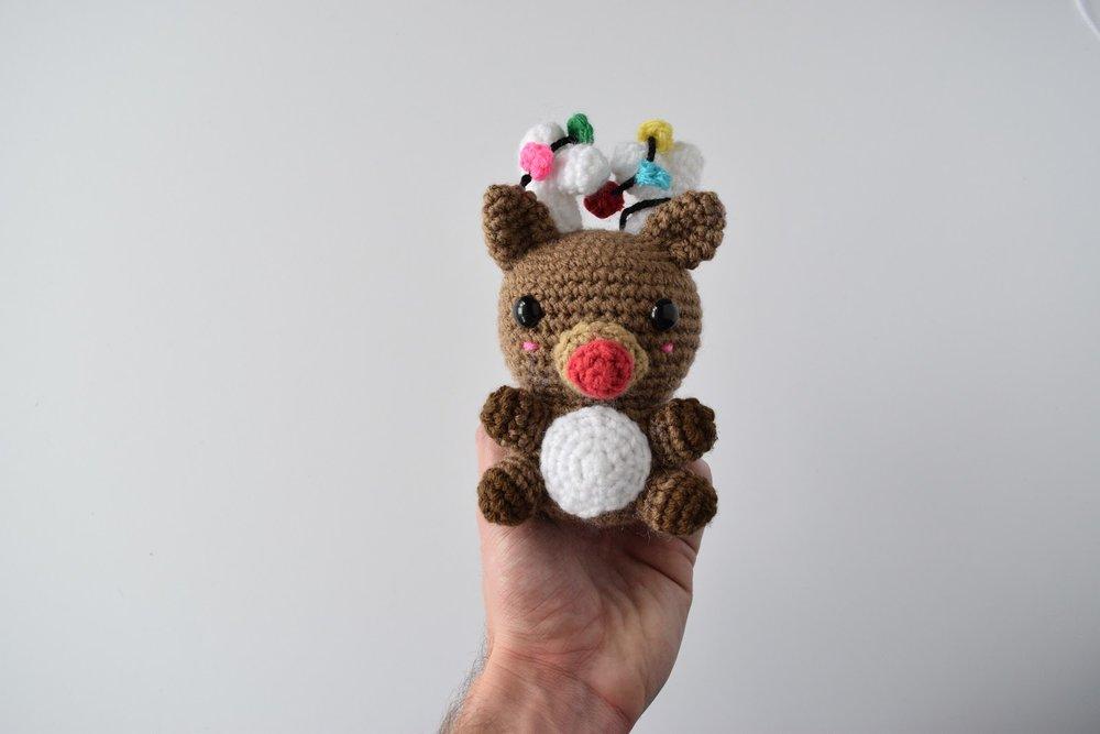 Lux the Reindeer - Free crochet pattern (amigurumi)