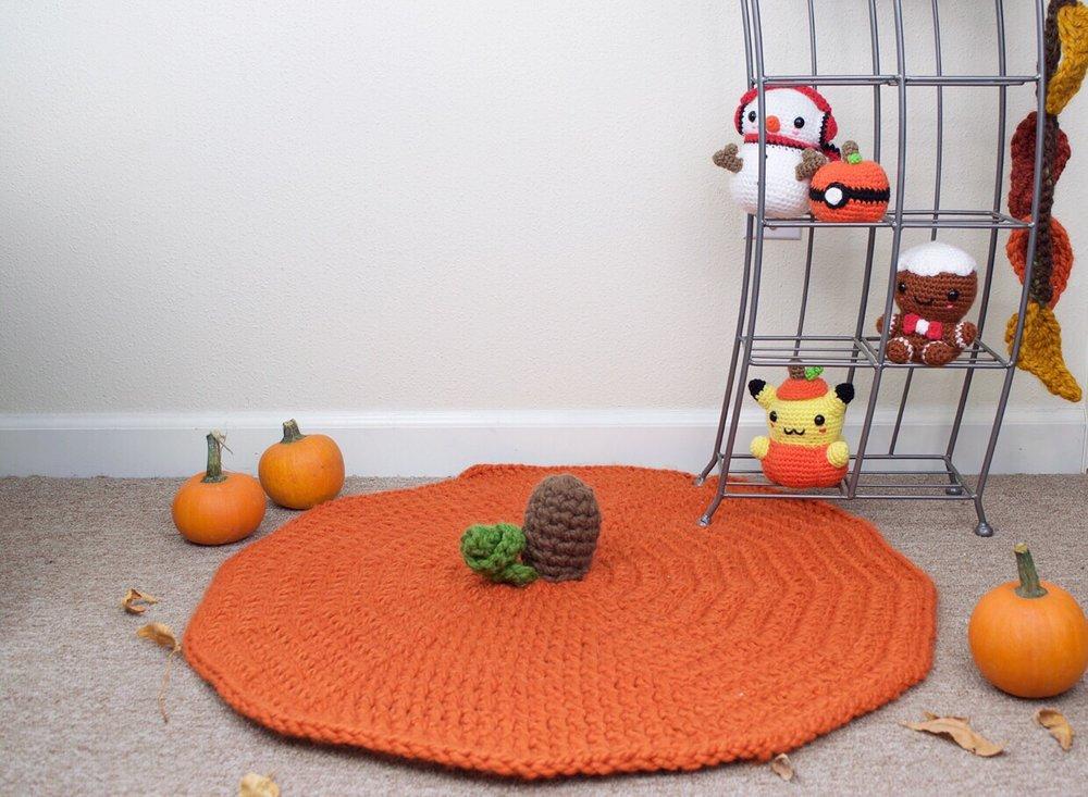 Pumpkin Rug - Free crochet pattern (Home Decor)
