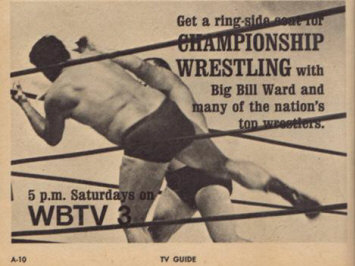 An example of 1950's television wrestling ads.