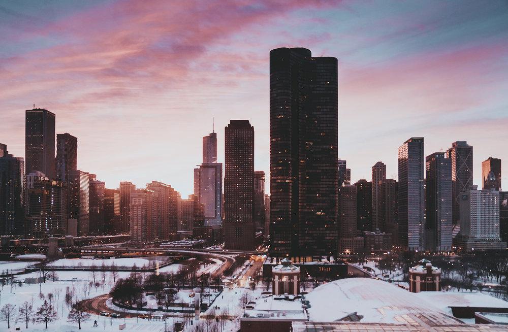 Tarde de inverno em Chicago, Illinois por @ danmagatti