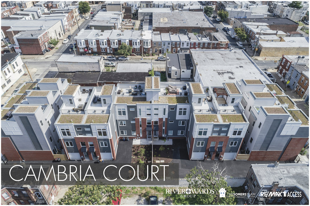 Port Richmond 19125 - RiverWards Group is proud of Cambria Court, 12 impressive 3 story townhomes. This exclusive development located in the Port Richmond neighborhood is only a few short blocks from Fishtown and the Delaware River Front attractions.