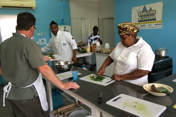 Cook like a Lucian - Let's eat! Learn how to cook delicious Lucian cuisine with authentic local ingredients from some of the island's most renowned experts in Caribbean fare.