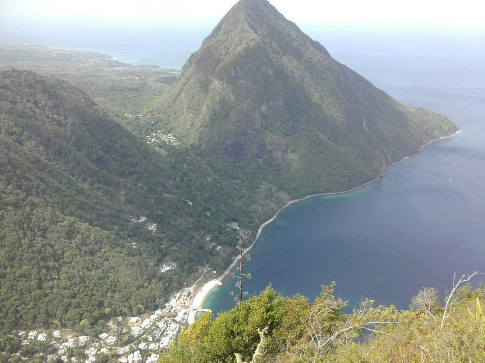 view of Gros Piton from Petite Piton