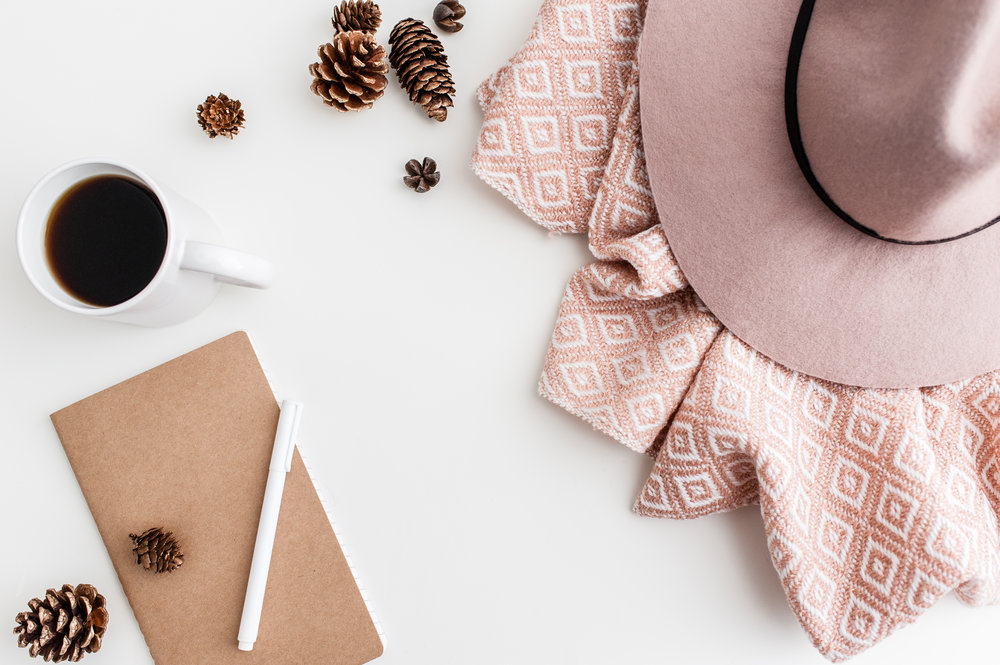 Mauve Pinecone Desk Mock-Up with Hat.jpg