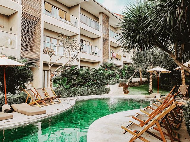 We loved our stay at @canggubeach.apartments - if you're planning a trip to Bali, Canggu should definitely be on your list and this location was so lovely!