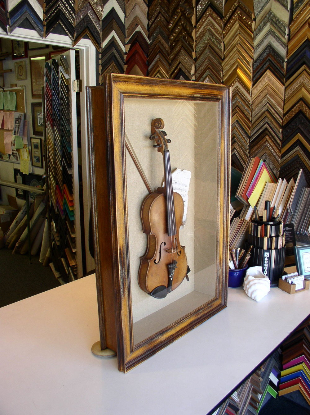 Shadow Boxed Family Violin