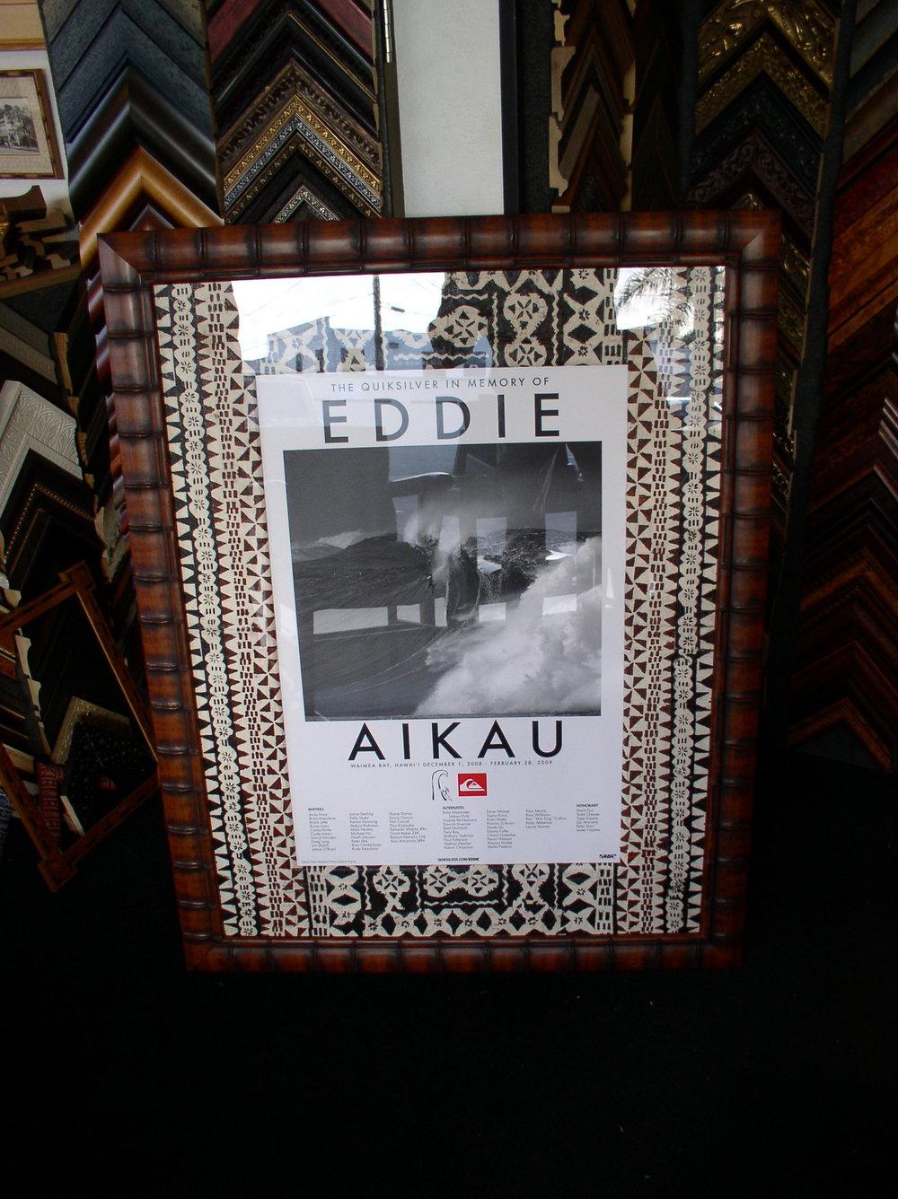 Framed Eddie Aikau Poster