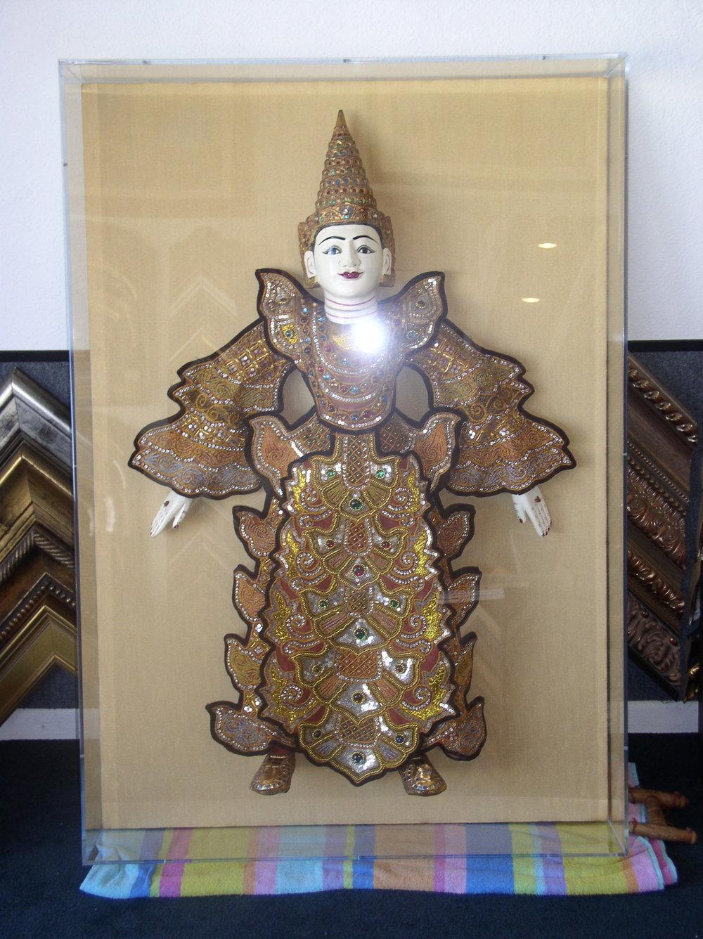 Puppet from Thailand in Plexiglas Box