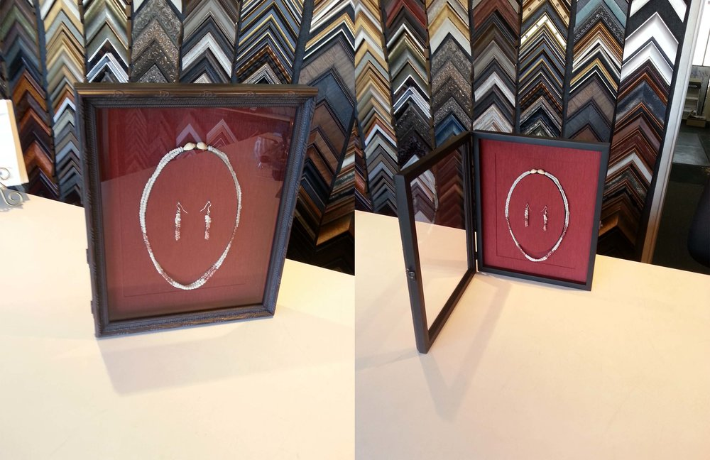 Framed Necklace & Earrings