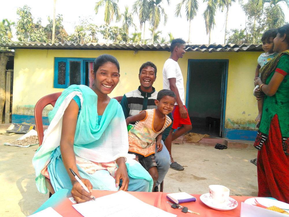 Meet Deepika Bara.  This month she signed to take a TOLI loan to purchase a sewing machine. With the support of our social worker Ashish Subba, Deepika is launching a new business that will enable her to provide income for her young family and new hope for a whole community.