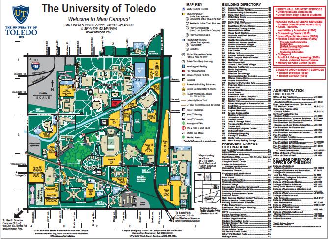 University Of Toledo Student Parking Map | www.bilderbeste.com