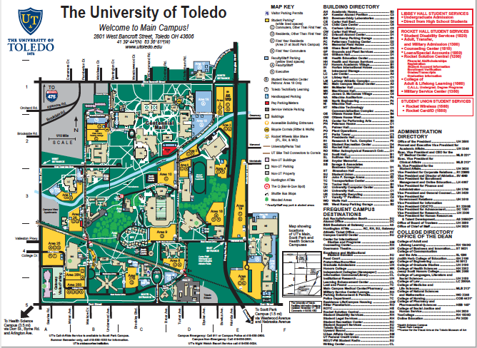 UT Main Campus Map -