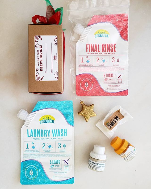 "This year I've made an effort to find & support brands I love who also give back...aka no guilt shopping! 🙏 . I've been using @mygreenfills eco-friendly laundry products for the past year, ever since I found out they partner with charities like one that helps deaf women in Jamaica with sustainable jobs….my hand-stitched ""scent angel"" came with a beautiful note by one of the women who made it! 😇 . So when I found out about their holiday gift packs where 100% (wow!!) of all proceeds go to these women + another charity focused on freeing women in China from being trafficked and enslaved, I had to share with you 🤗 . When you give someone a gift from the page linked in my bio, ALL of the proceeds go directly to helping women in these two regions with sustainable work! I feel like that's unheard of! 🙌 . Not only does it feel amazing to give someone a gift that improves their health & the environment, but it feels even better to give them something that also gives back to HUNDREDS of women! 👏👏 . Click the link in my bio to choose your gift just in time for the holidays! 🎁🎄Gift packs range from $14 to $120 until 12/16!"