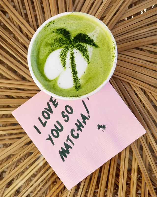 "Given my obsession, I've been told I should write a blog post on the best matcha stops in LA...until then I'll sprinkle them throughout my feed! 🍵🍵 🍵 . Hands down my favorite matcha is the new @chachamatcha in West Hollywood. 😍 The decor remind me of a mix between the @bevhillshotel and a vintage/retro tiki bar and the menu options are super creative with choices like a lavendar CBD matcha and collagen blue algae!  I ordered a regular matcha with almond milk...extra hot (a must for me)! I always have to see how the original tastes and find that the flavored matchas are usually sweetened with heavy syrups which makes it more like a dessert than a drink! Plus I legit want to taste the matcha powder...this one was absolutely delish. Just the right amount of sweetness, a smooth creamy flavor and the perfect green color! 👌👌 . I love that you can watch the matcha making process as they use traditional matcha whisks in bright green bowls and a stencil and a little matcha powder/sugar dust to create a design on top! 🌴 . I sat outside on top of bright floral cushions and people watched while I ""worked"" on my laptop 😉 When my matcha was finished I almost got a second one because it was that good and I didn't want the experience to end! Oh, and did I mention, I heard they're opening one on Abbot Kinney this month?! 🤞🤞If you need me, you'll know where to find me! ❤"