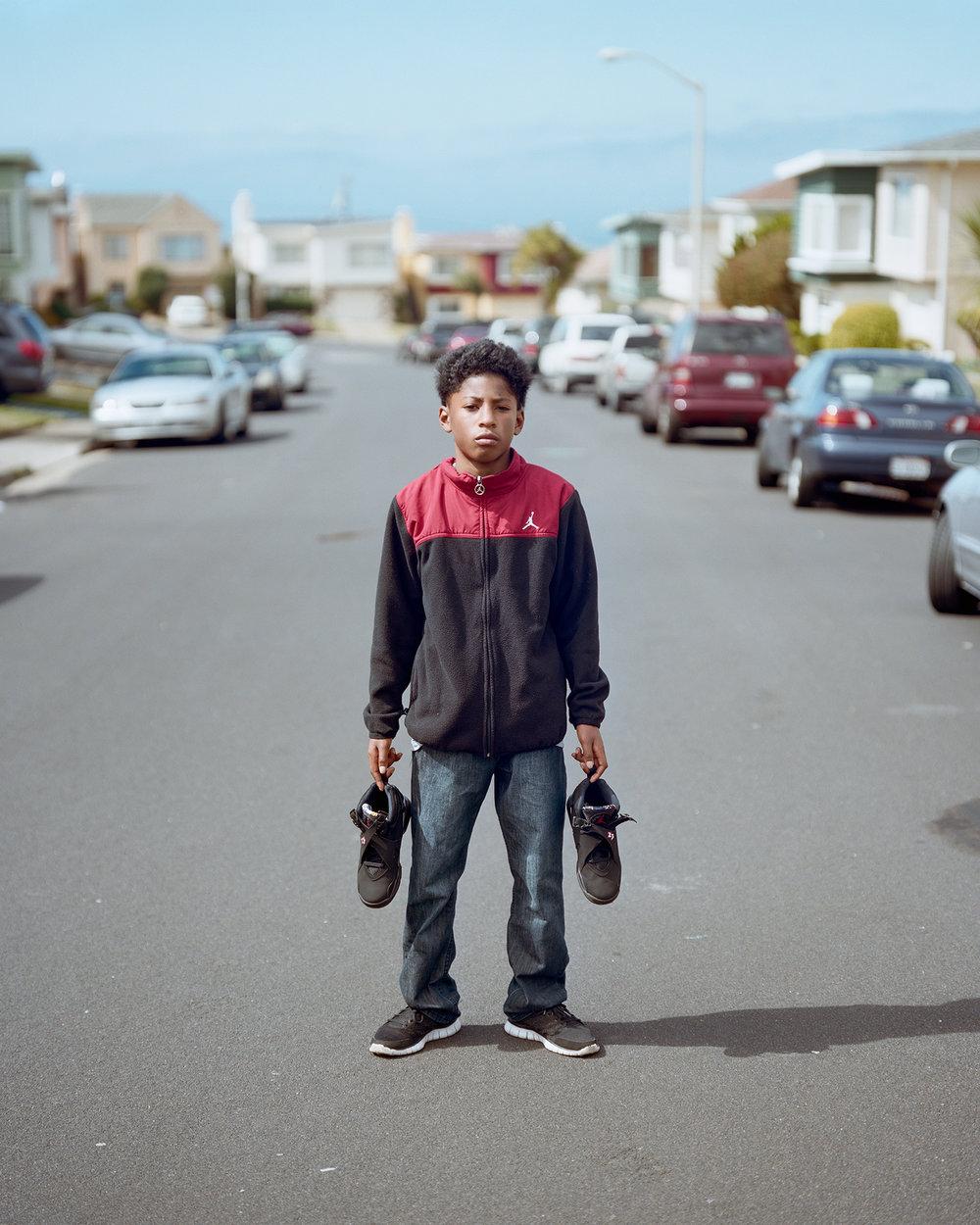 Boy w/ J's, Daly City, CA 2014