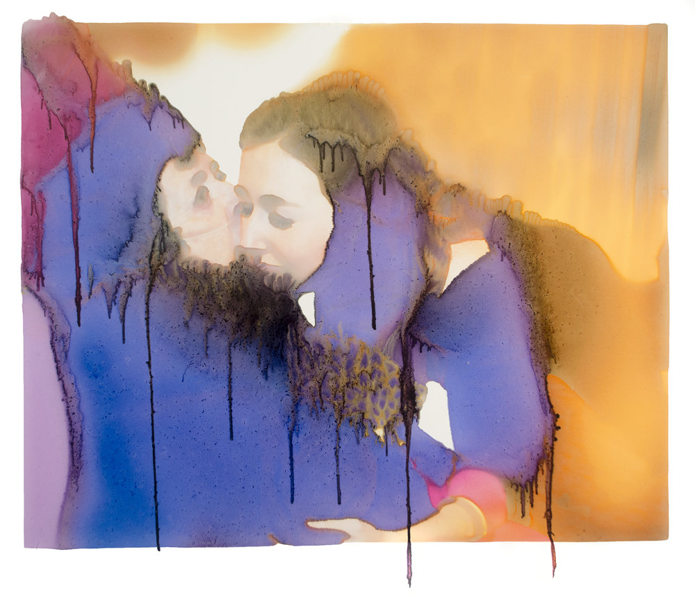 Kiss, Archival Pigment Print Photograph, unique, 2018 [from the series Take Care]