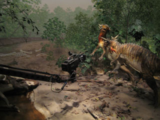 Shooting Dinosaurs for Prehistoric Megastorms