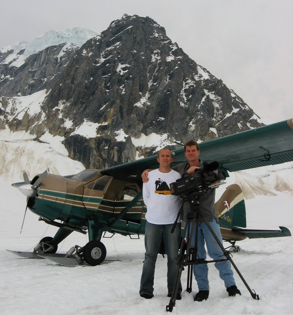 Tom & Trevor on a glacier in Denali
