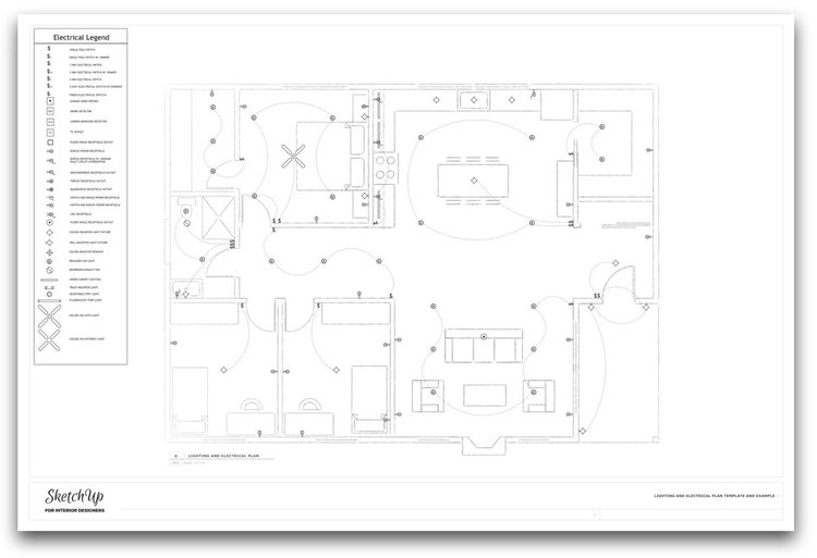 Electrical Lighting Design Layout. sample 16 aquatic