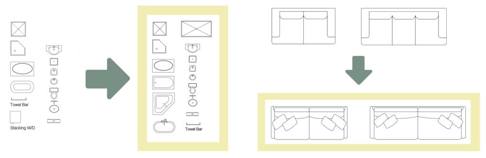 SketchUp 2D template blocks