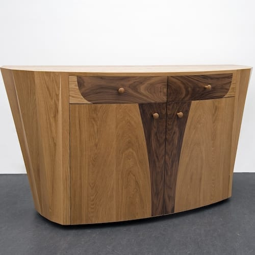 Eagle Sideboard - On the winds of an eagle, American White Oak and Walnut