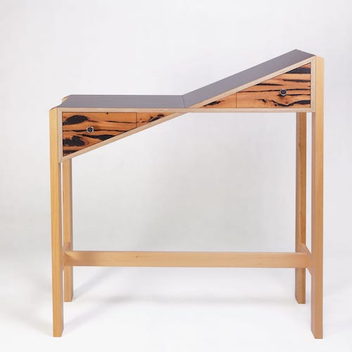 S(l)ide Table - A hall table which started as a pun, and turned into, well, a table like no other.