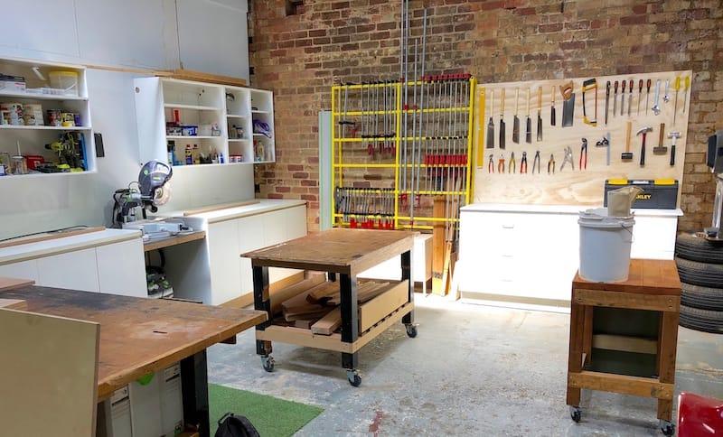 Part of my workshop in preston, not always this tidy!