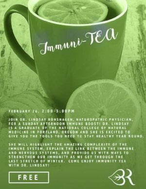"February 26th 2:00-3:00pm ""Immuni-Tea"" at Breathing Room Yoga Center, New Haven CT"