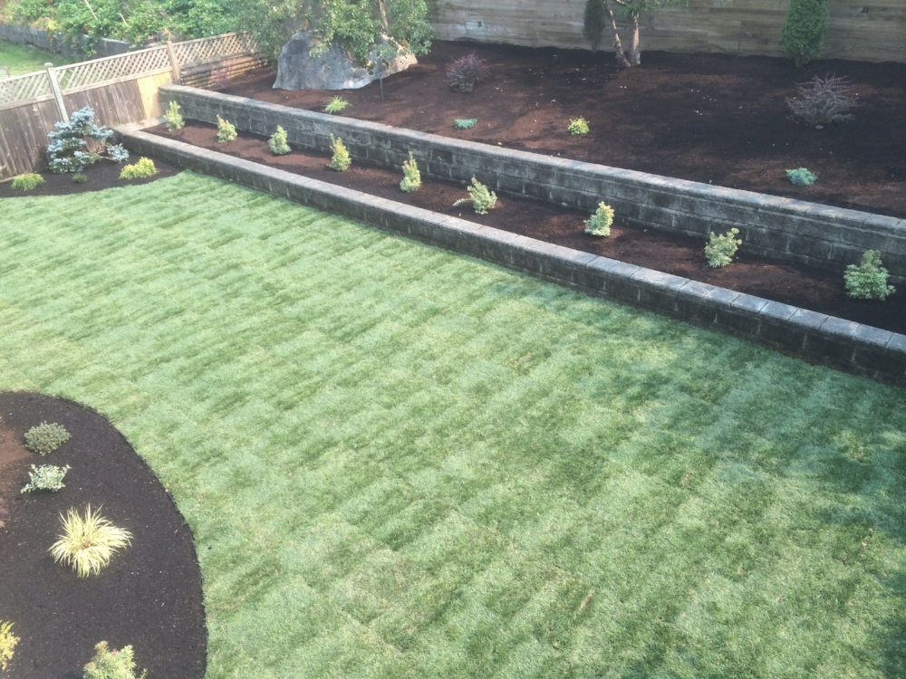 above view - groveland landscaping job nanaimo