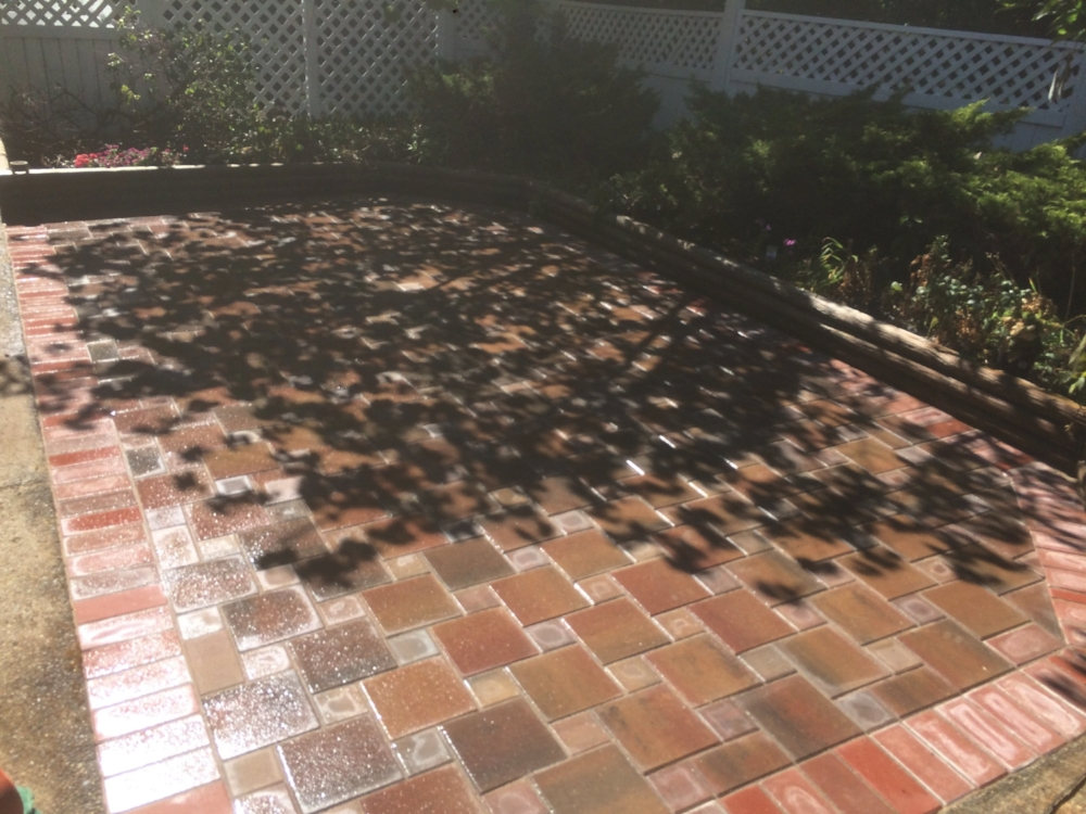 Indian summer paver patio - lantzille, bc