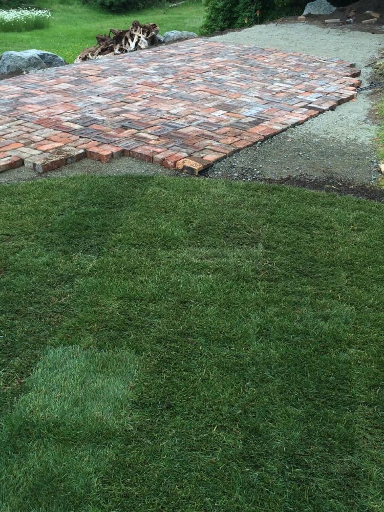 100 year old pavers - cedar - jinglepot landscaping