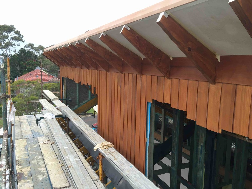 Cedar Timber Cladding used for External cladding on a extension in Chatswood