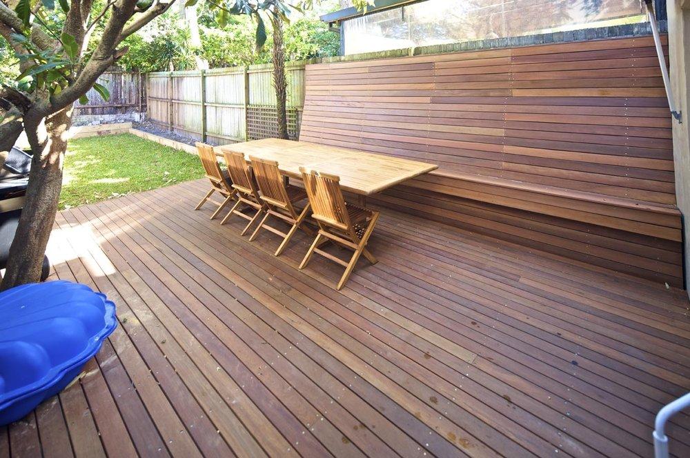 Blackbutt Timber Deck, Outdoor Entertainment Area