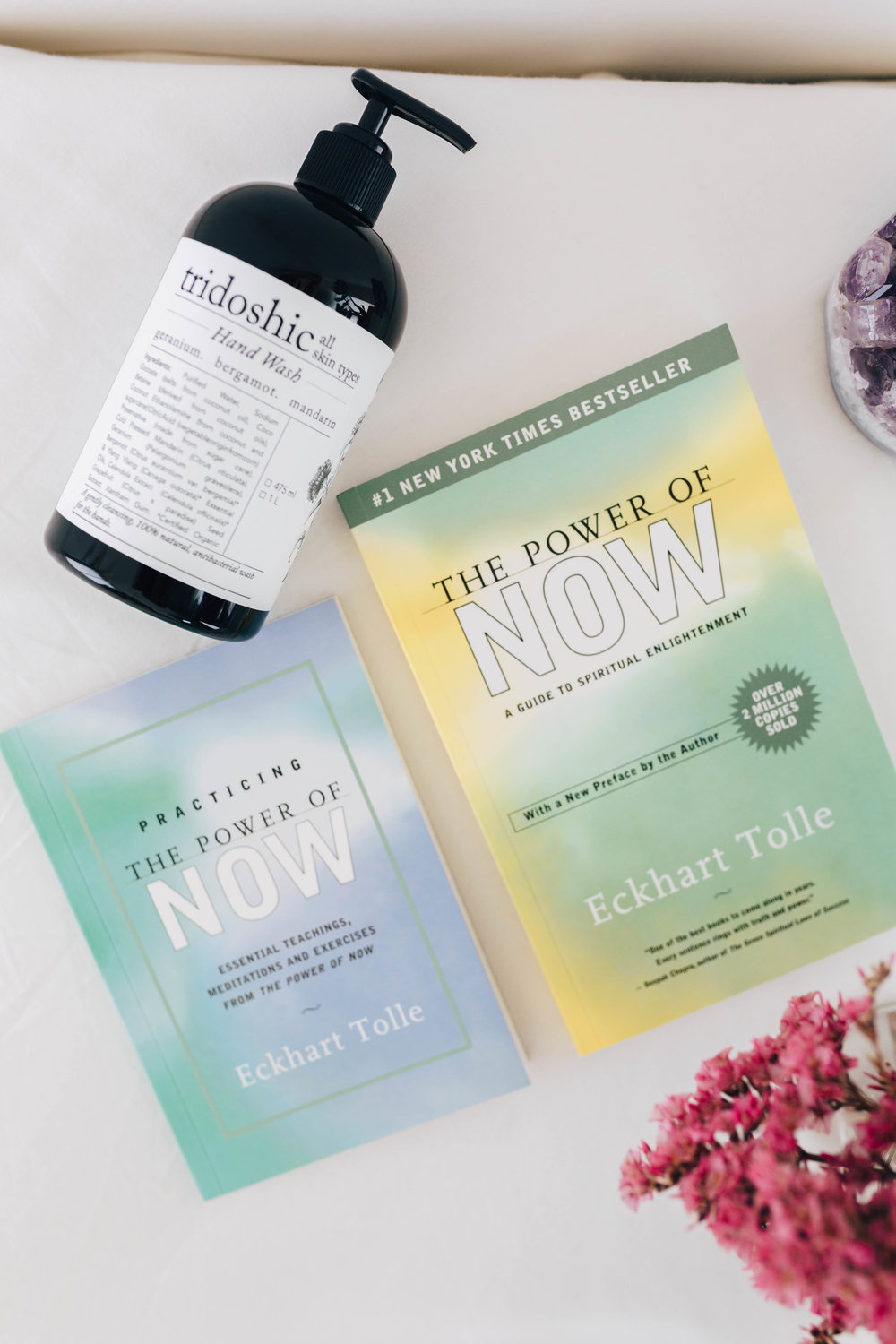 --- $75 gift ---- + 'The Power of Now' by Eckhart Tolle book + 'Practicing the Power of Now' by Eckhart Tolle book + Rasasara tridoshic hand wash 475ml