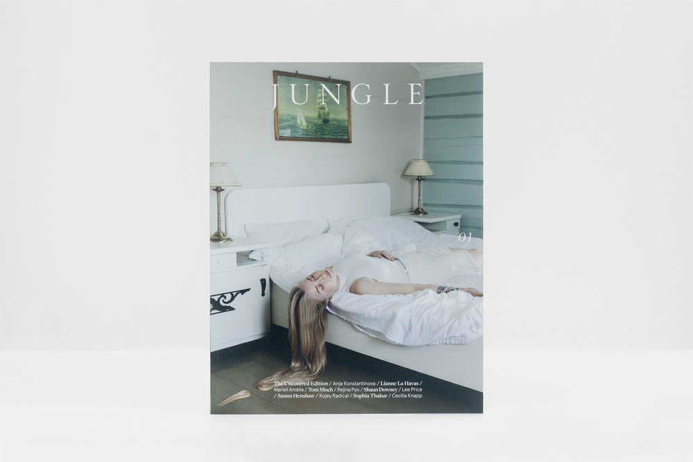 About - —With a team of young, innovative and ambitious individuals working together, Jungle focuses on producing highly exclusive and stylish content to engage and inspire readers. As an independent bi-annual magazine, it aims to incite creative freedom and forward thinking.Cover photography by Mariell Amélie