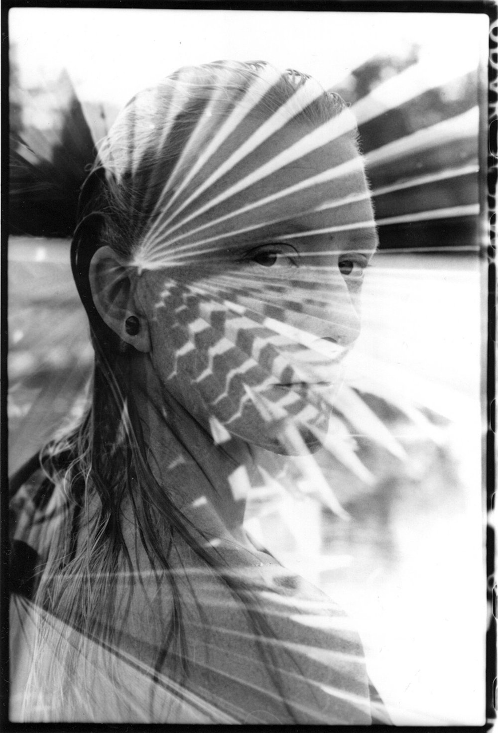 Palm Princes, Layered Negatives, Silver Gelatin Print