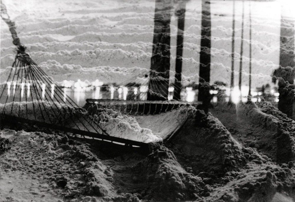 Sandy Dreamscape, Layered Negatives, Silver Gelatin Print