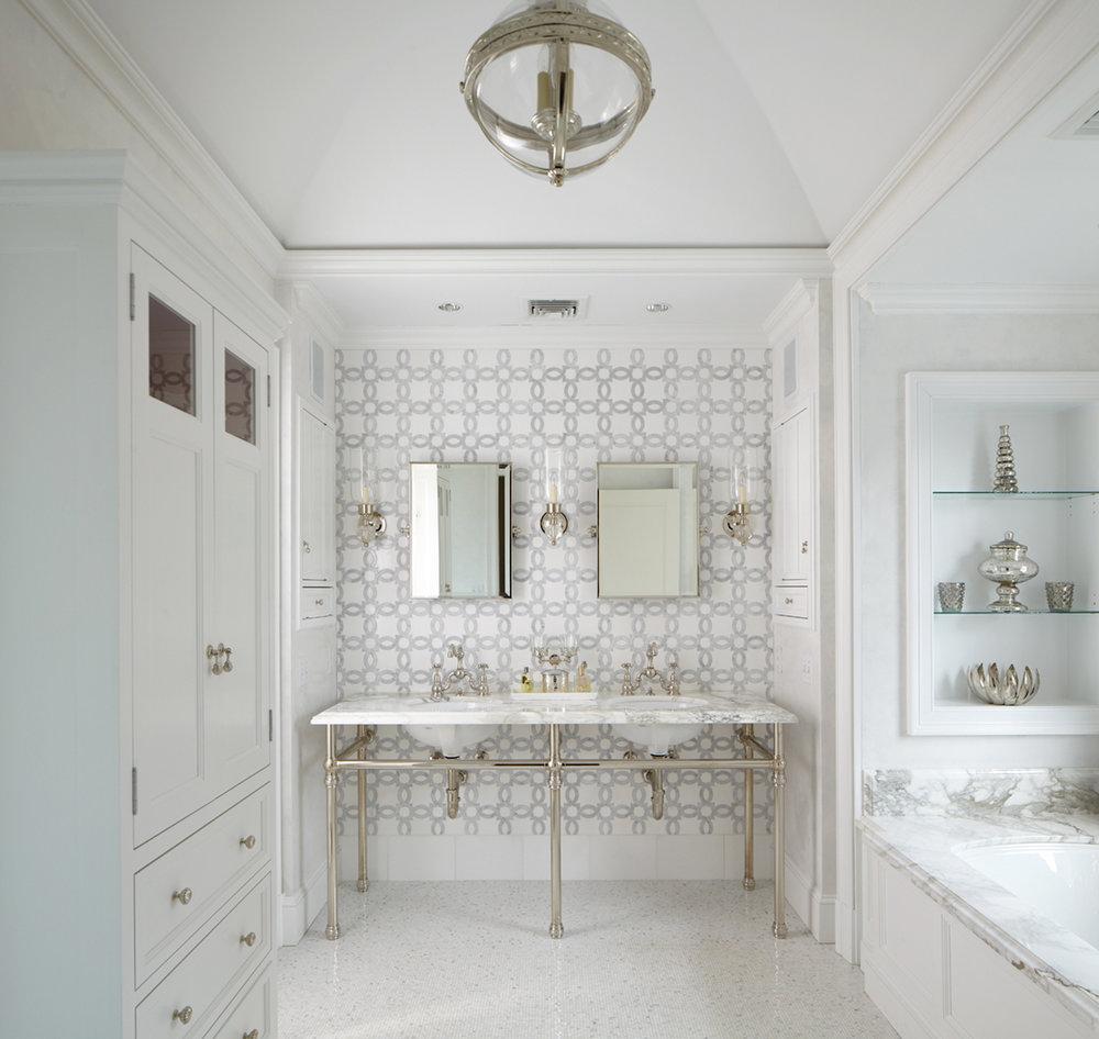 Westchester Master Bath: Michael Whaley Interiors, Inc