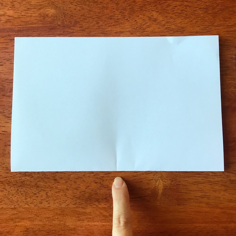 Fold your paper in half