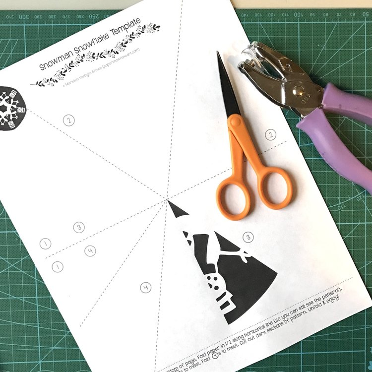 Snowman Paper Snowflake Print-N-Cut
