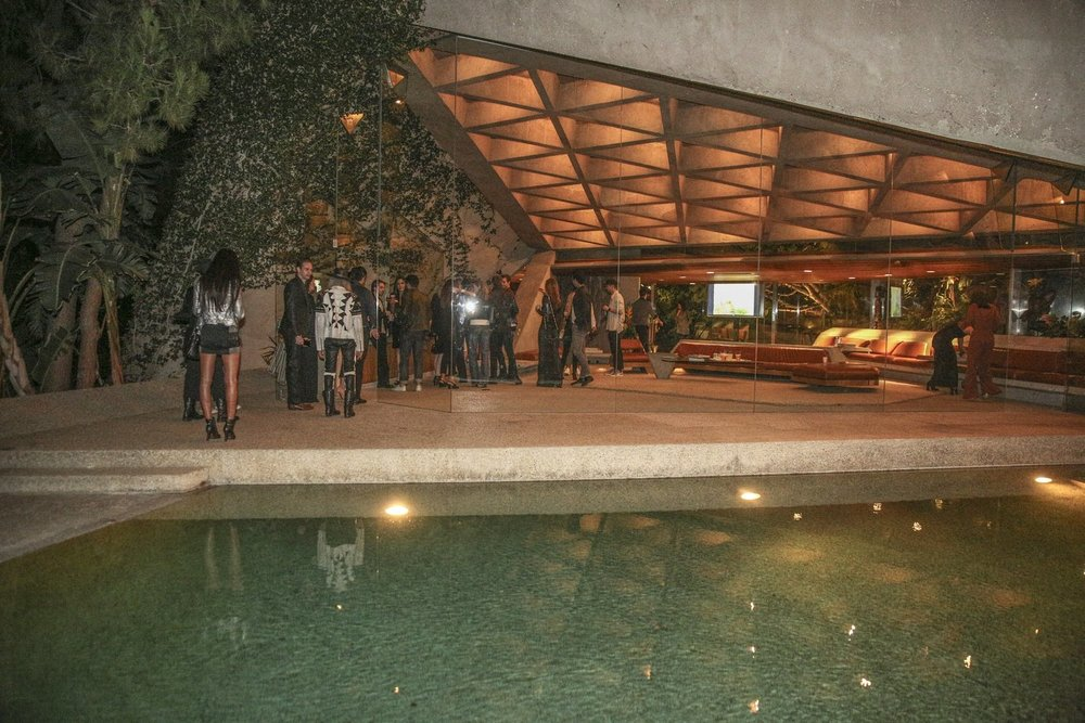 """InstaBrand party guests at Sheats/Goldstein Residence.Photo by Garry Garry """"Prophecy"""" Sun @SunofHollywood This Saturday, November 21st, InstaBrand celebrated our third anniversary at the iconic Sheats/Goldstein Residence in Beverly Hills.What was once an idea among friends has grown into a thriving social media powerhouse -- a network of 15,000 social influencers, over 800 brand partnerships, and global offices in New York and Milan."""