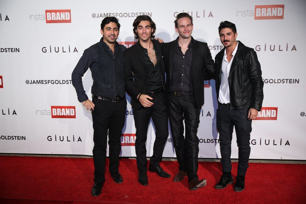 """InstaBrand founders with every fangirl's dream boy Blake Michael.Photo by Garry Garry """"Prophecy"""" Sun @SunofHollywood"""